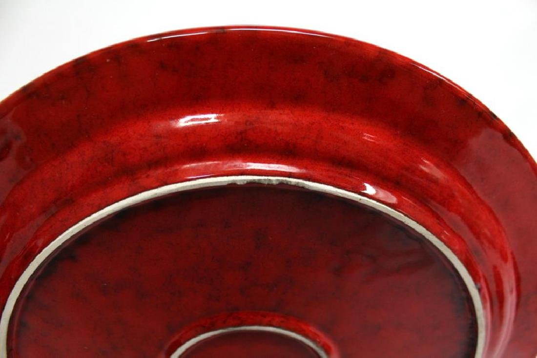 Group of Italian Red-Glazed Pottery Dishes - 5