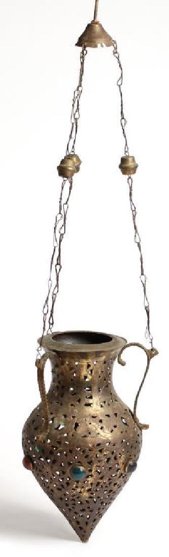 Moroccan Jeweled Glass Incense Burner