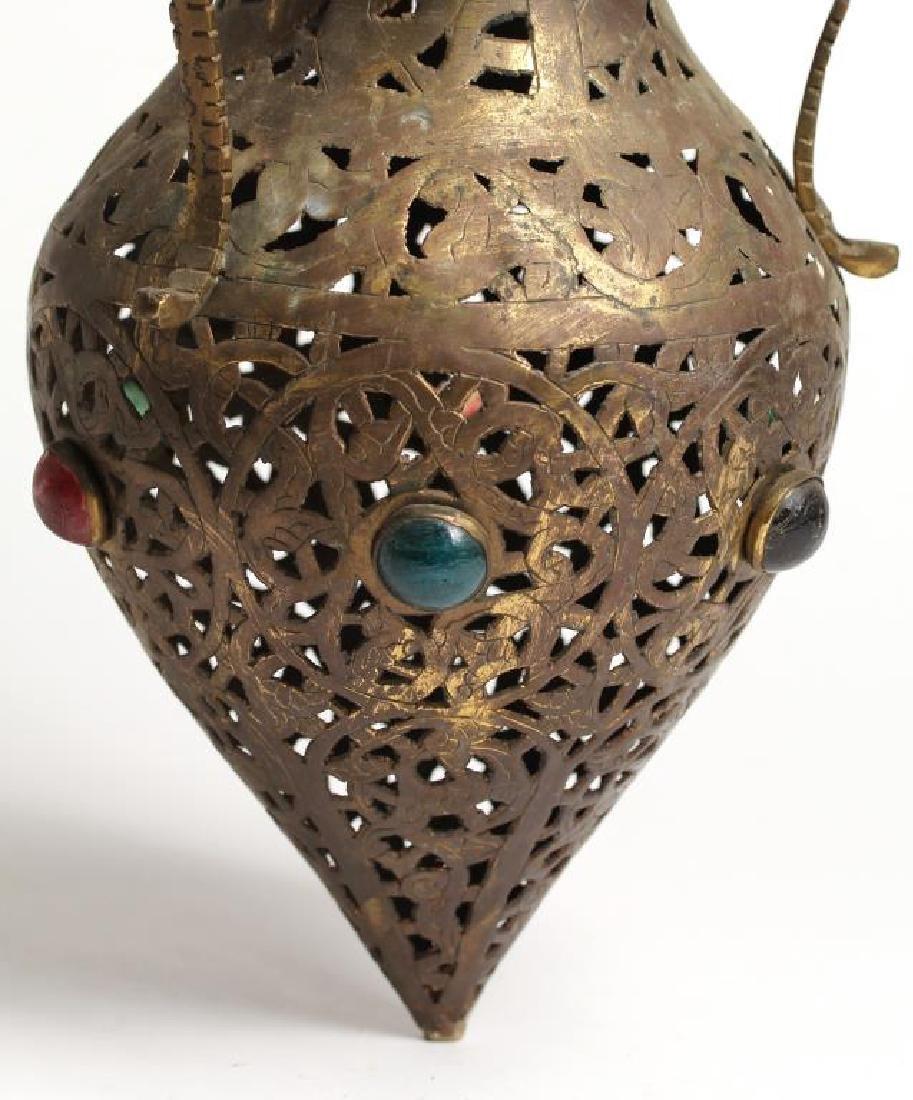 Moroccan Jeweled Glass Incense Burner - 2