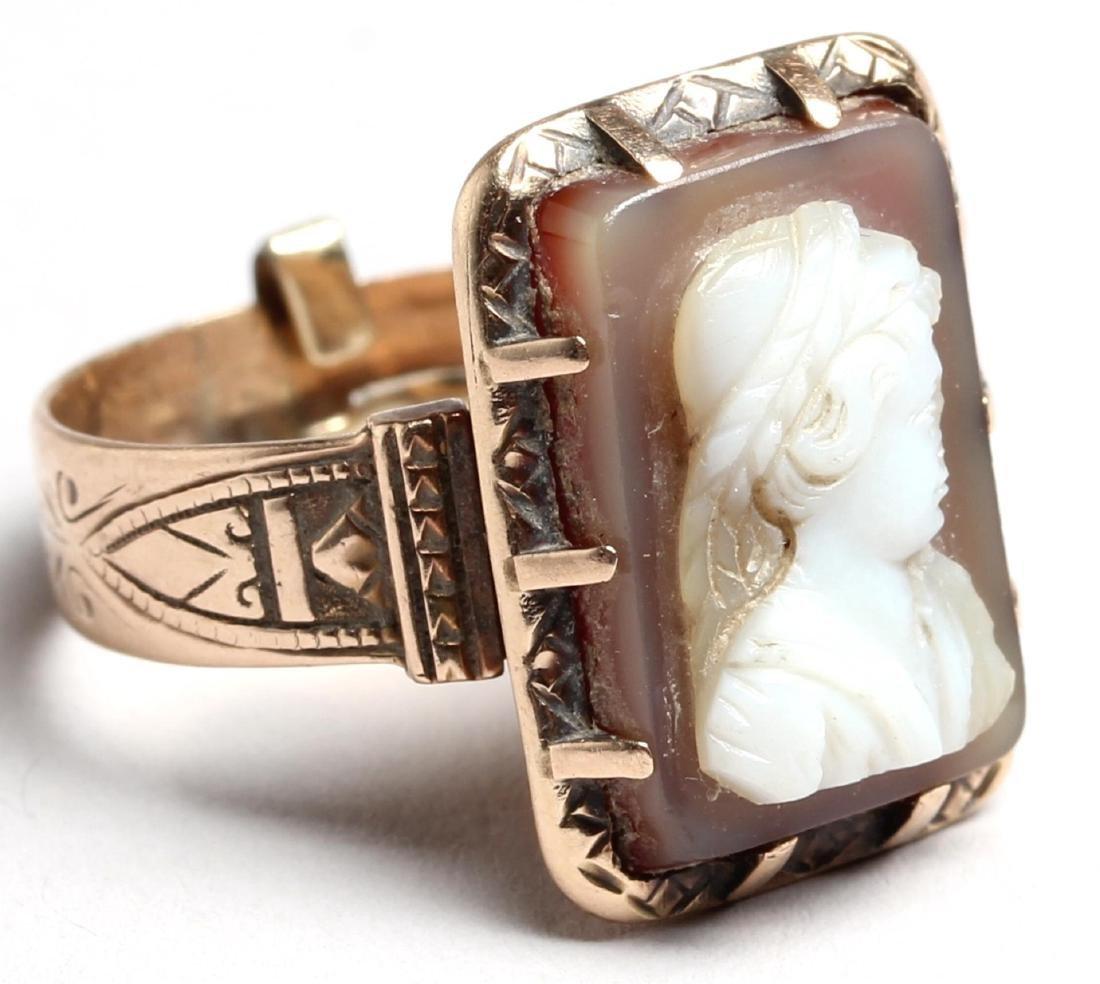 14K Rose Gold Cameo Ring