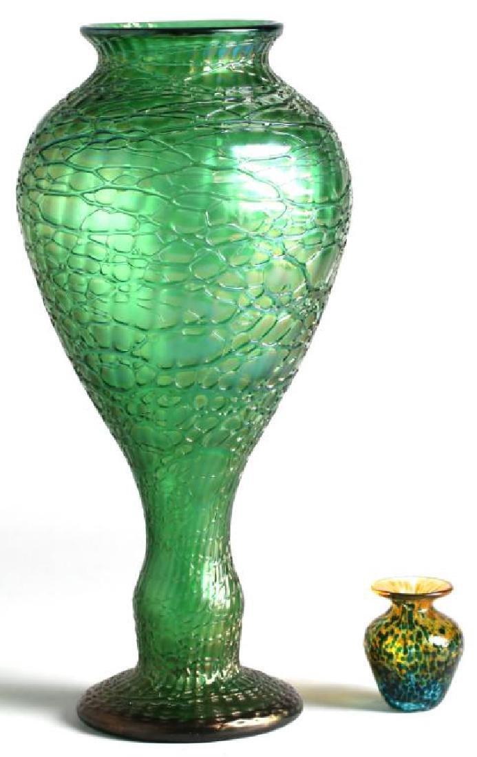 2 Art Glass Vases, Including Bohemian Glass