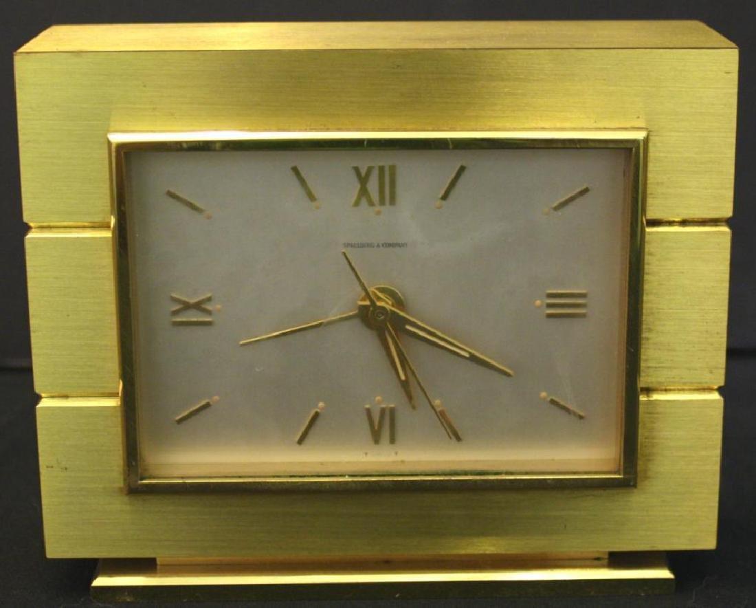 Spaulding & Co. Brass Shelf Clock