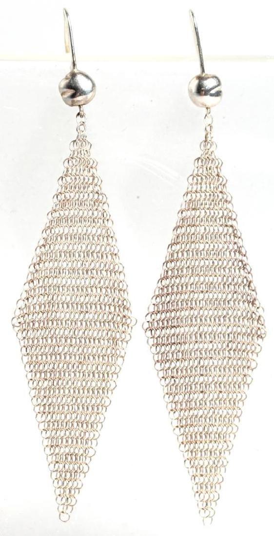 Elsa Peretti for Tiffany Sterling Mesh Earrings