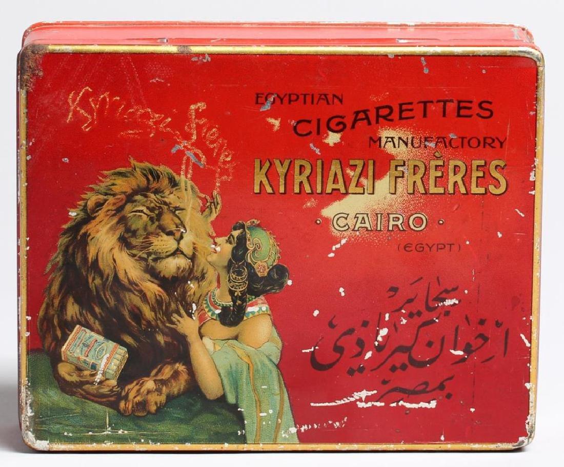 Antique Egyptian Cigarette Tin by Kyriazi Freres