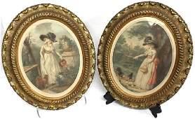John Raphael Smith (English,1751-1812)- Mezzotints
