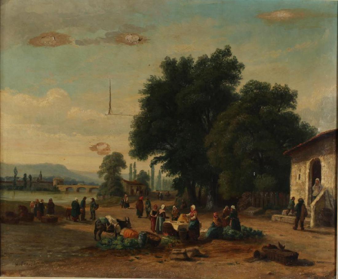 Illegibly Signed Italian Landscape- Oil