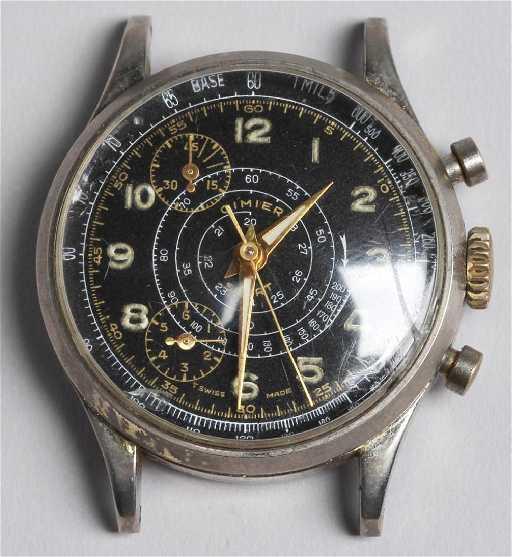 1950s Cimier Sport Telemeter Chronograph Watch