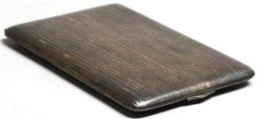 Napier Sterling Silver  14K Gold Cigarette Case