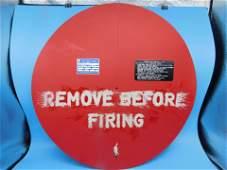 APOLLO  ROCKET ENGINE REMOVE BEFOR FLIGHT ENGINECOVER