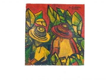 Gabriel Fernandez Ledesma Mexico 1900-1983 Original Oil