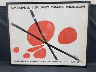 RARE ALEXANDER CALDER AIR AND SPACE MUSEUM POSTER