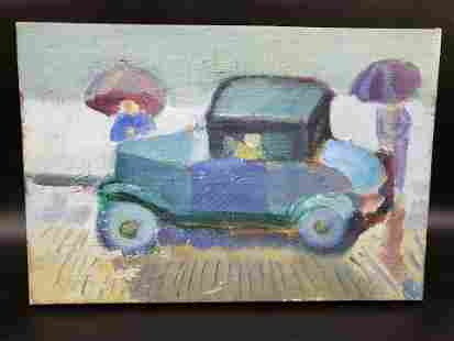 MORTIMER BORNE OIL ON CANVAS (BOOK INCLUDED)