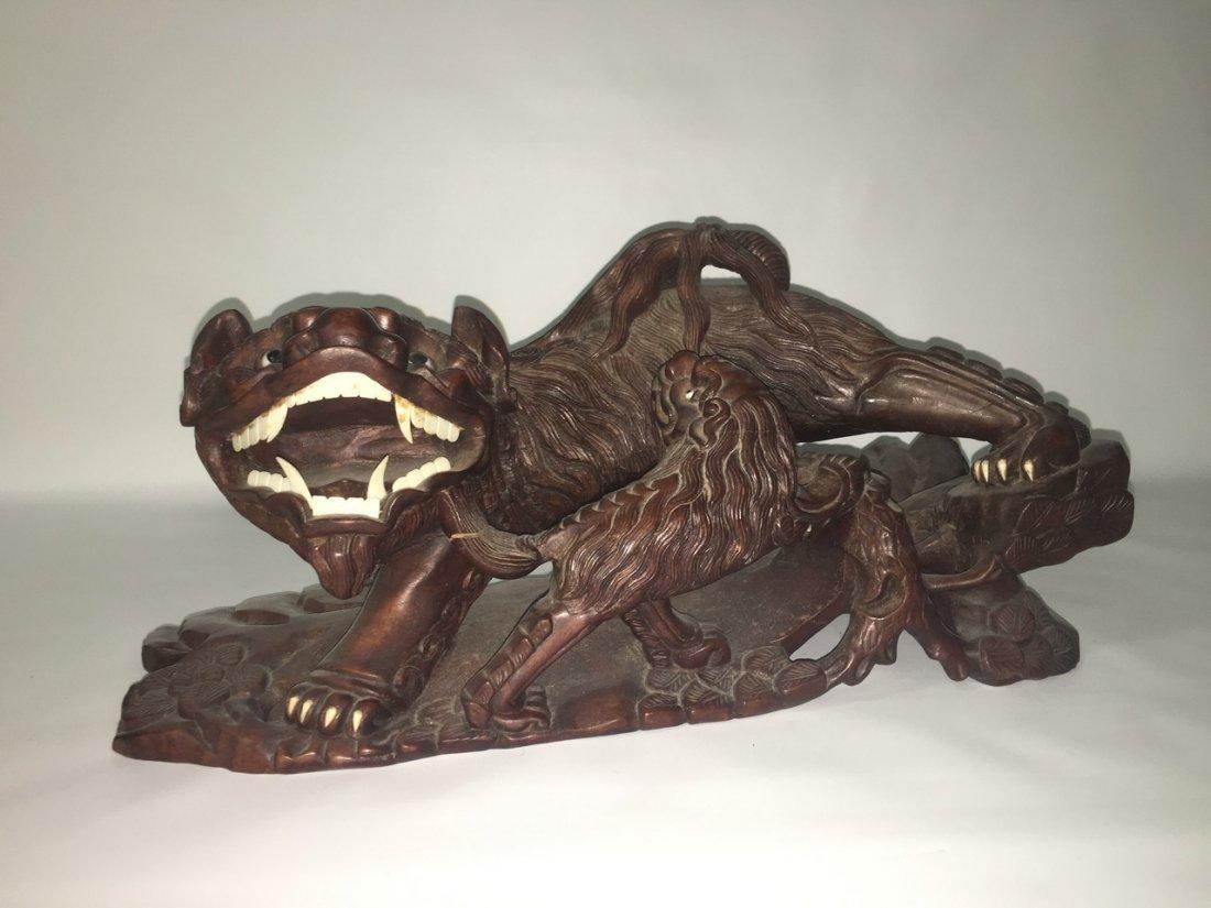 Handcraved rosewood FOO Dog