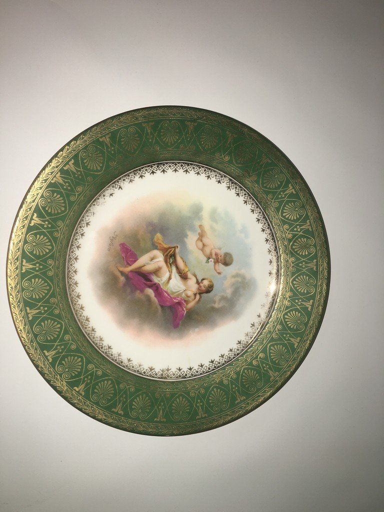 Gorgeous Royal Vienna Hand Painted Nude Chureb