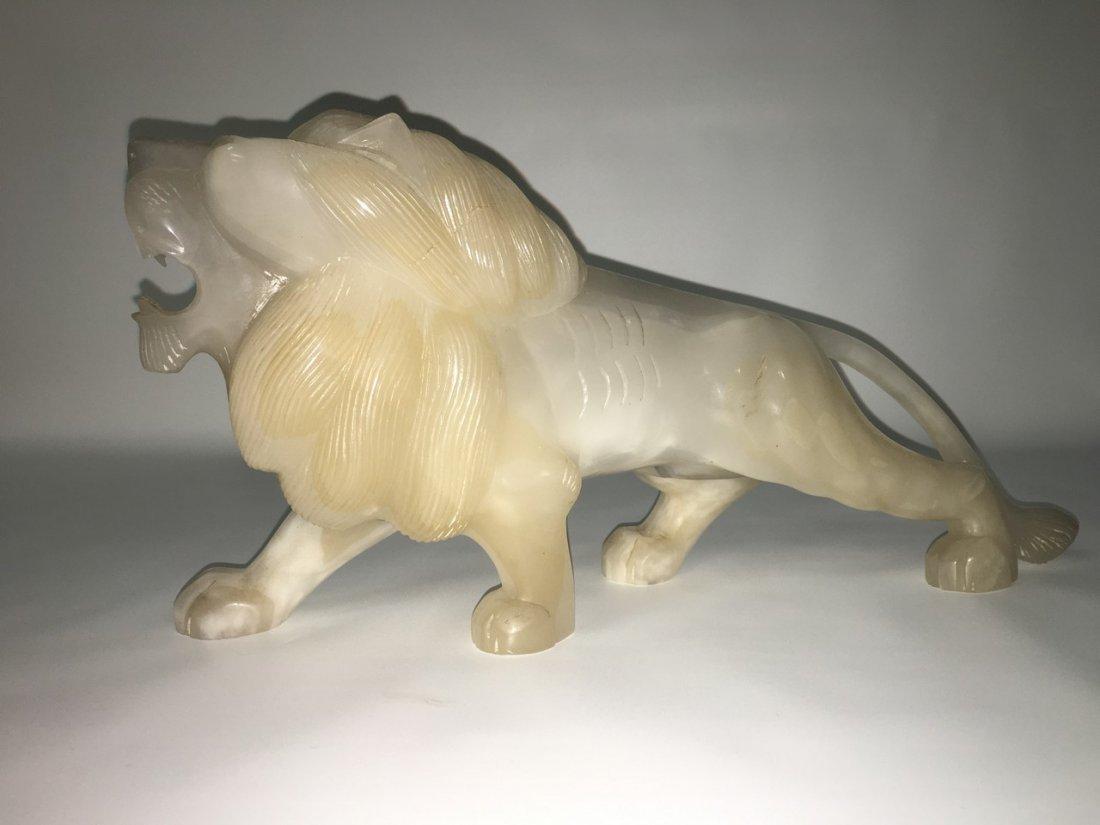 Large Handcraved Jade Lion
