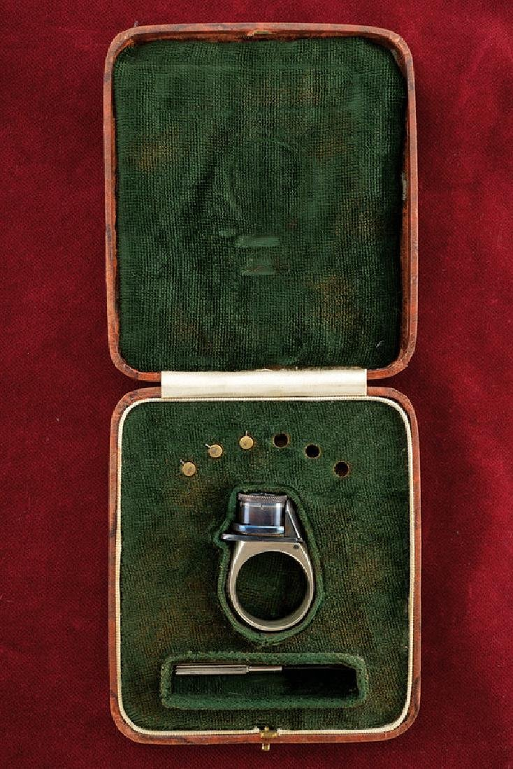 A cased 'Le Petite Protector' pin-fire ring pistol,