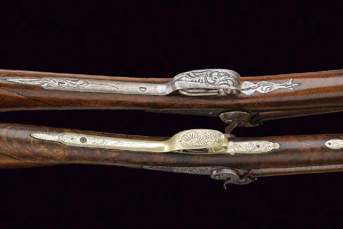 A lot of two percussion shotguns, dating: Mid 19th - 3