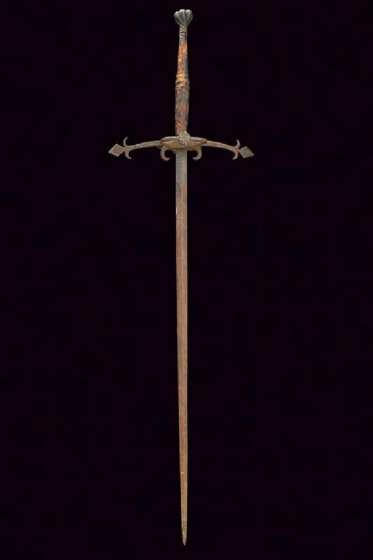 A two handed sword with antique pommel, dating: early - 4