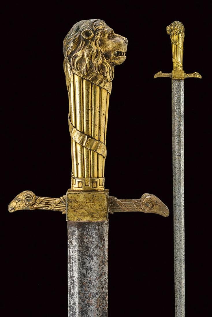 An interesting sword, dating: 18th Century, provenance: