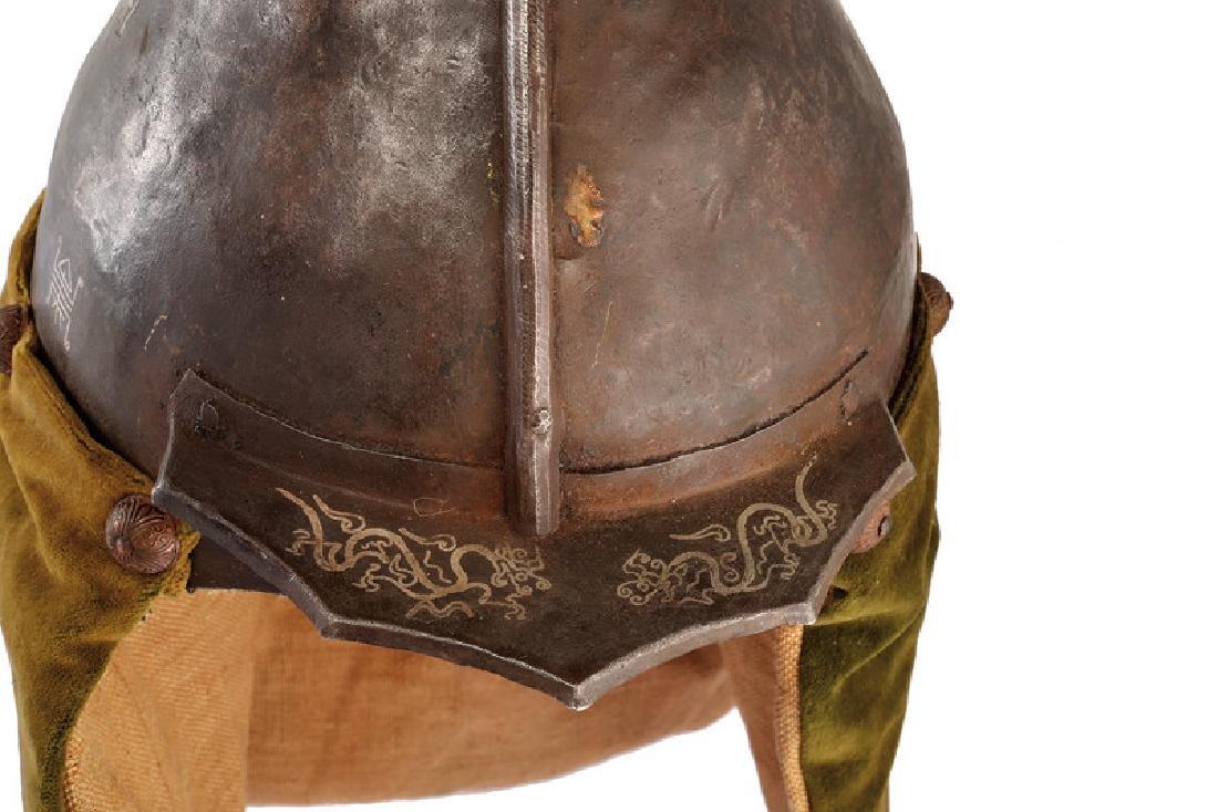 A warrior's helmet, dating: circa 1800, provenance: - 2