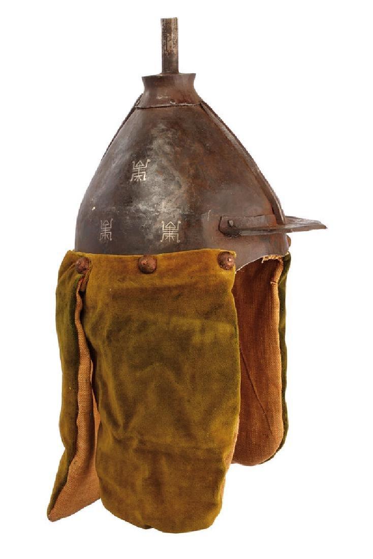 A warrior's helmet, dating: circa 1800, provenance: - 3