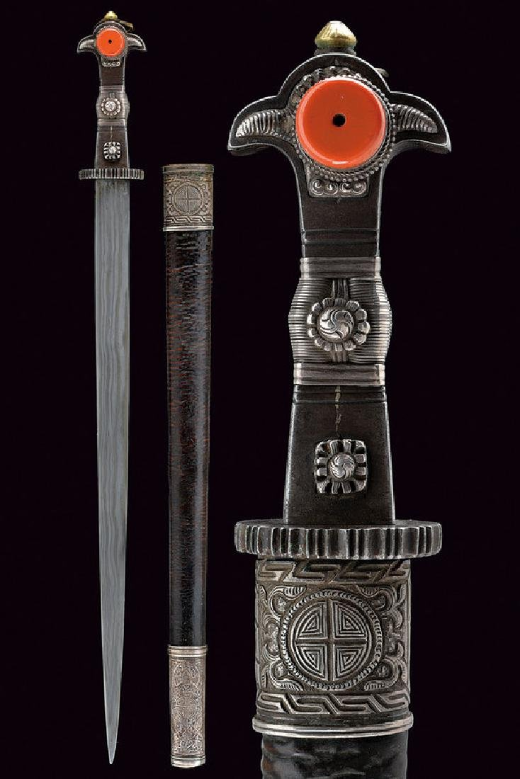 A short sword, dating: 19th Century, provenance: Tibet,