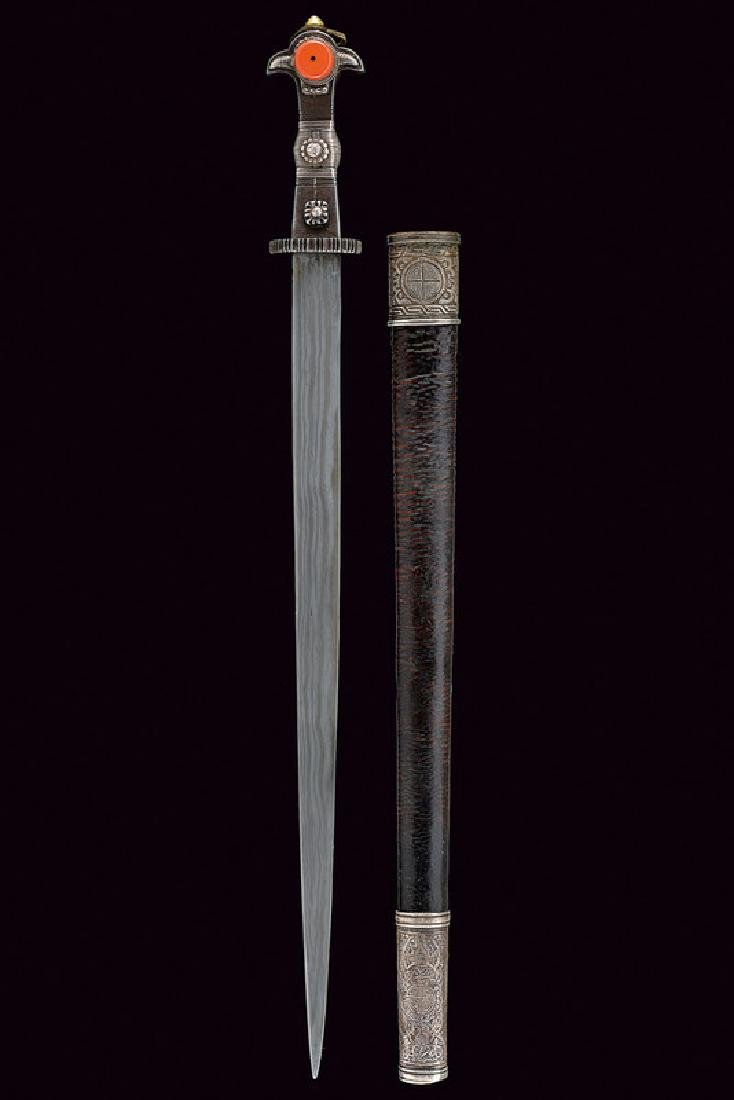 A short sword, dating: 19th Century, provenance: Tibet, - 2