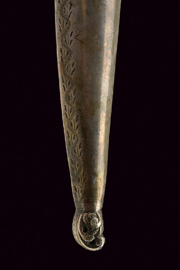A kard with stone grip, dating: circa 1800, provenance: - 5