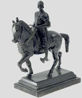 7: A statuette of the condottiere Bartolomeo Colleoni