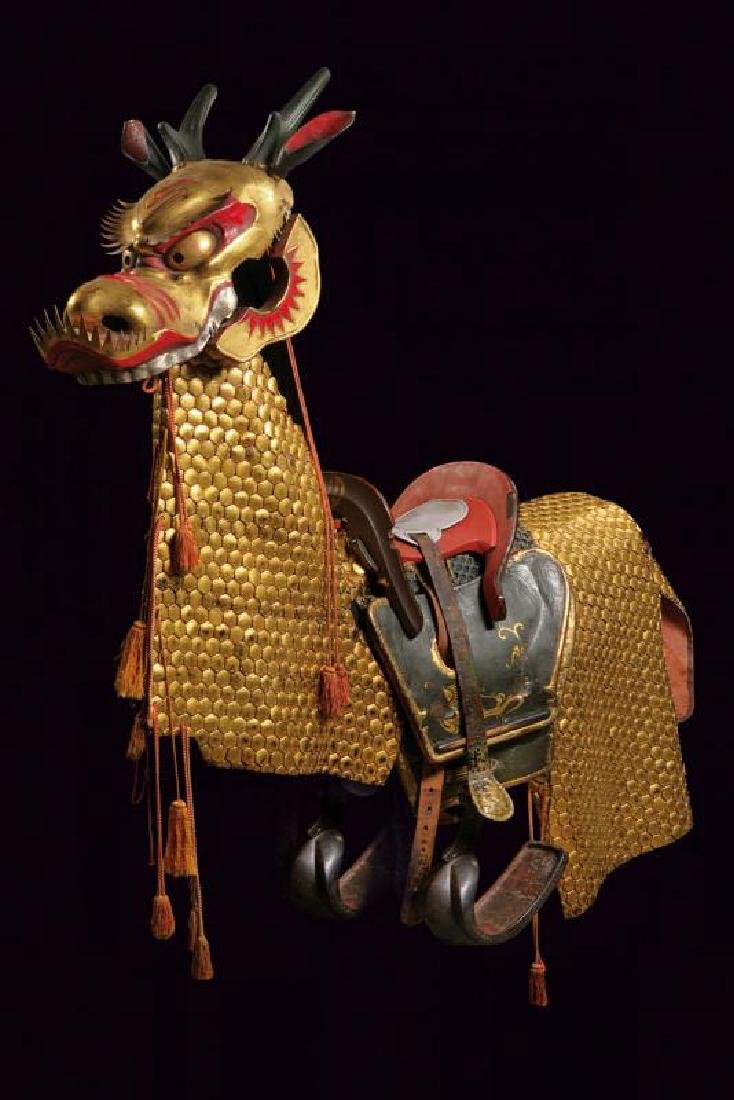 An extremely rare composite horse armour
