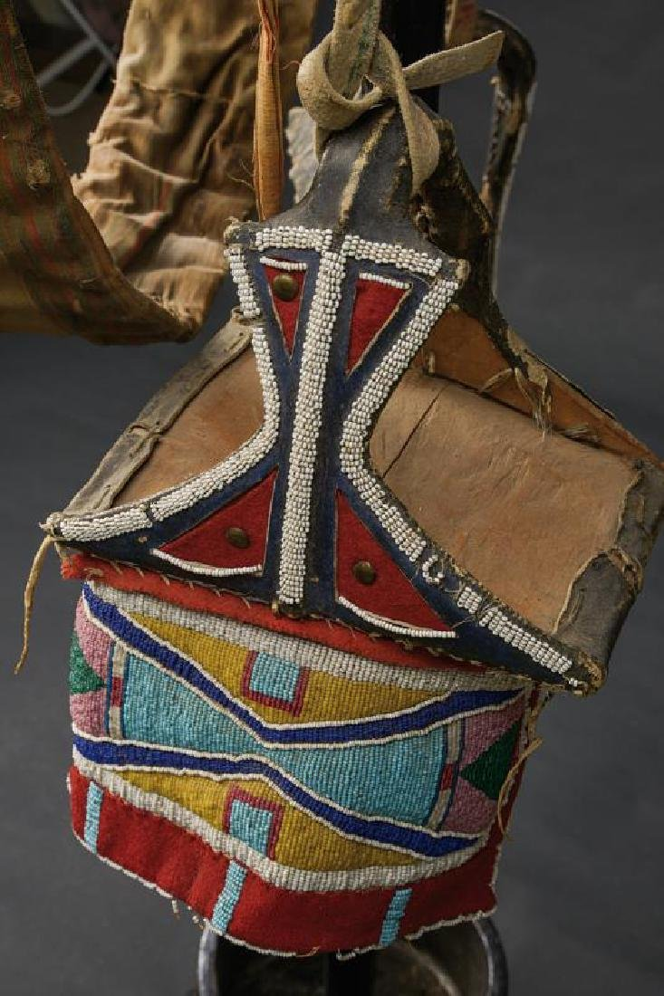 A rare saddle of the Crow tribe with stirrups and - 5