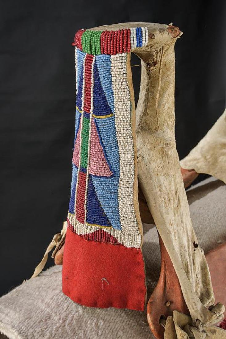 A rare saddle of the Crow tribe with stirrups and - 6