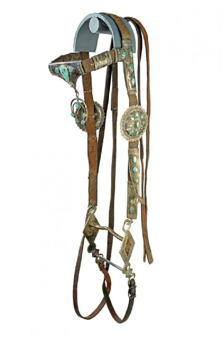 A rare Navajo bridle with bit