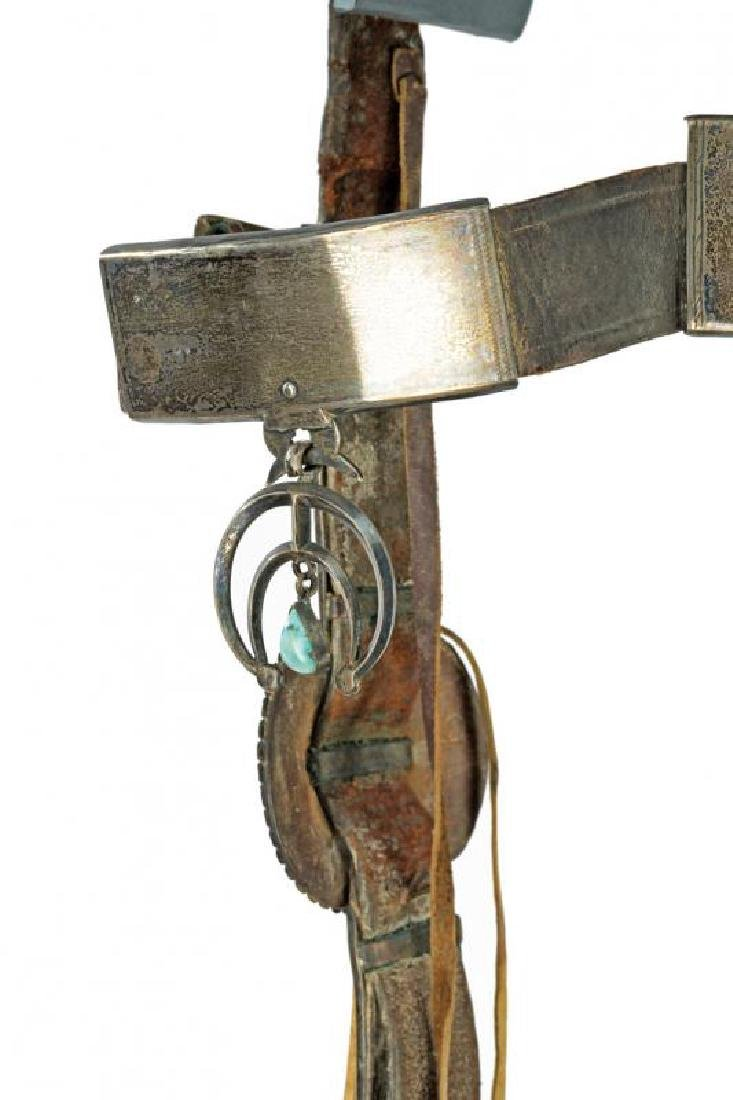 A very scarce decorated bridle without bit of a Navajo - 2