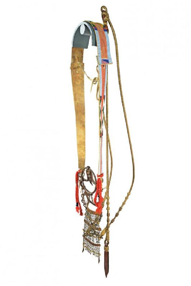 A very scarce decorated bridle with bit of a Crow