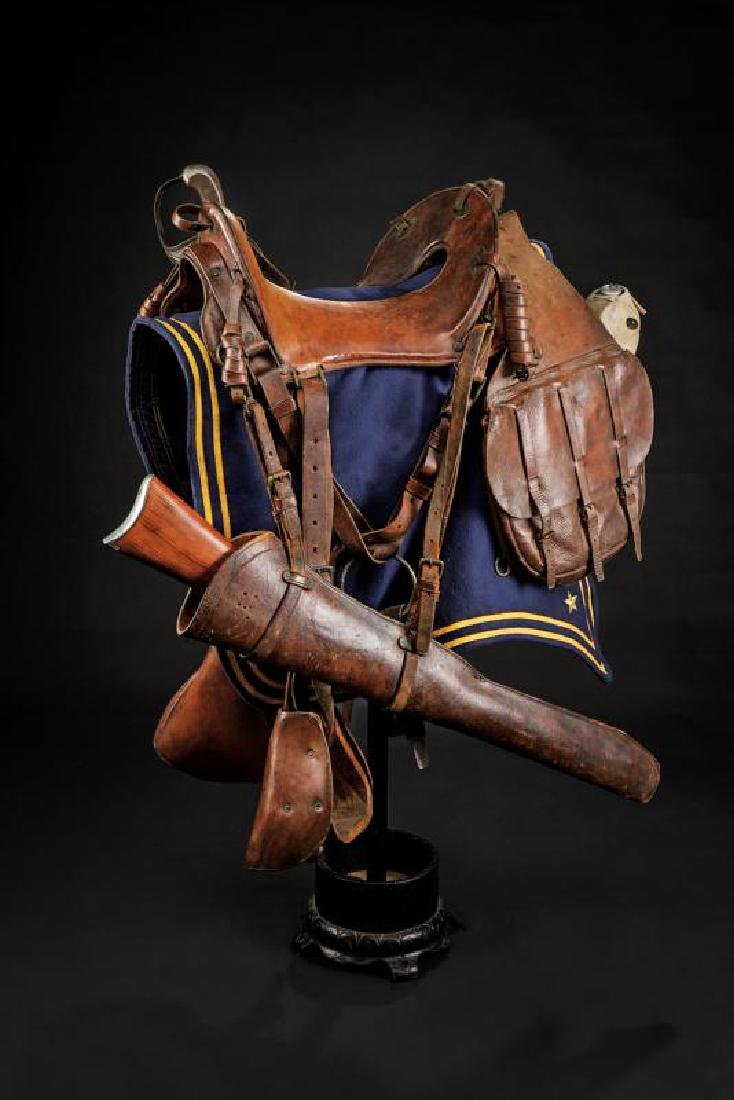 A rare and complete US cavalry McClellan saddle