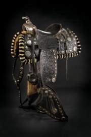 A  silver mounted San Fernando parade saddle