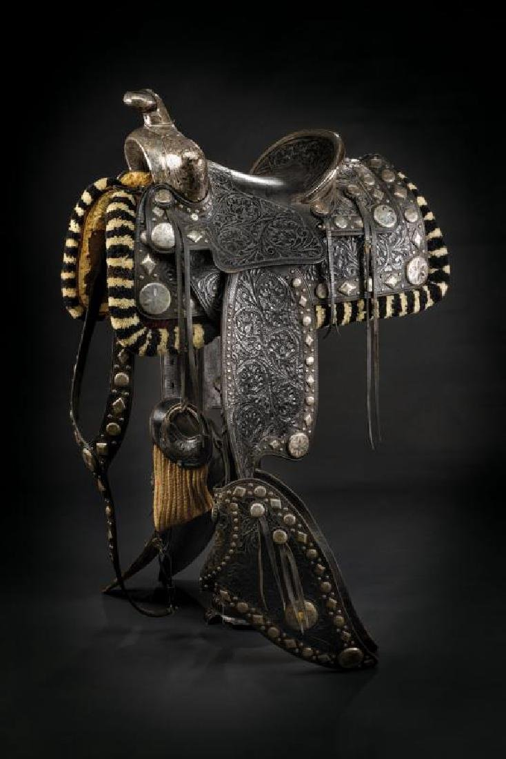 A  silver mounted San Fernando parade saddle