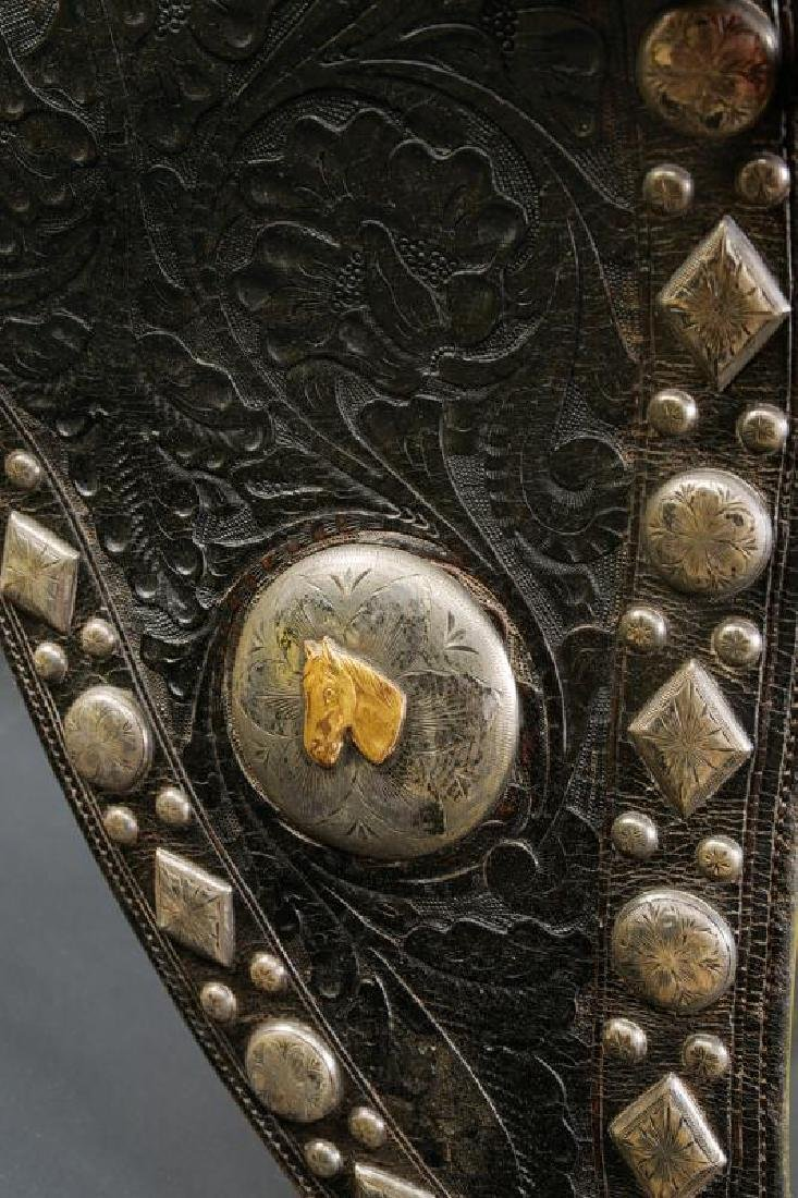 A  silver mounted San Fernando parade saddle - 3