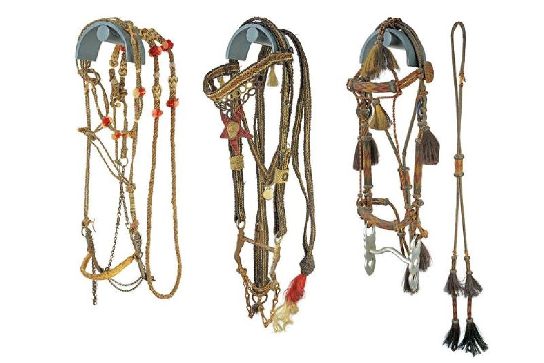 A lot of three bridles