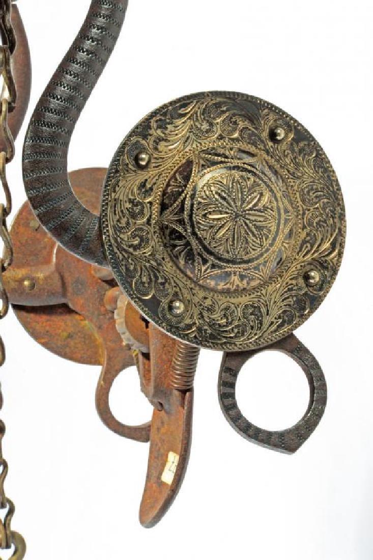 A silver decorated Spone Spade bit - 2