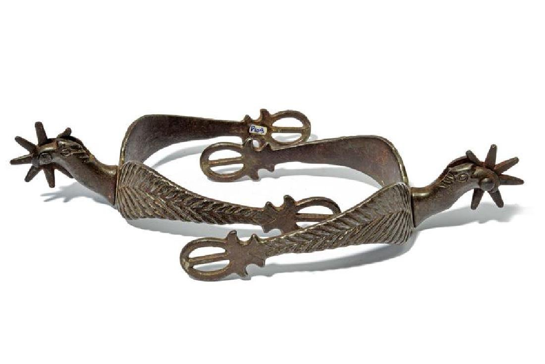 A rare pair of US cavalry officer's spurs