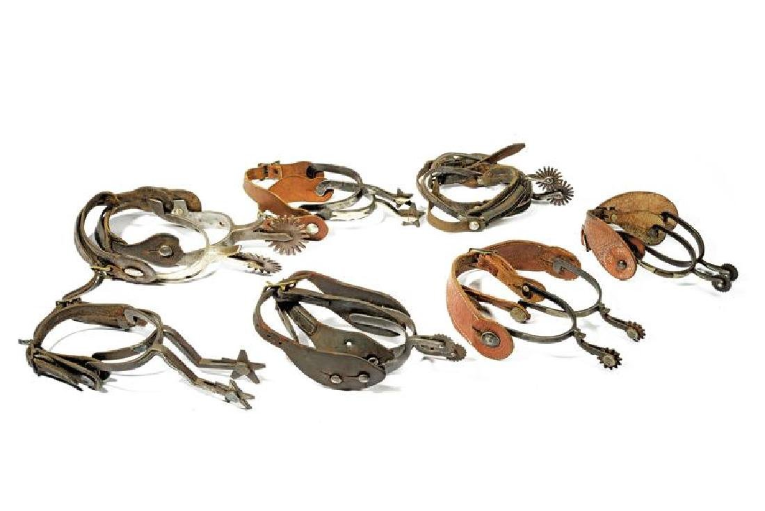 An interesting lot of seven pairs of spurs