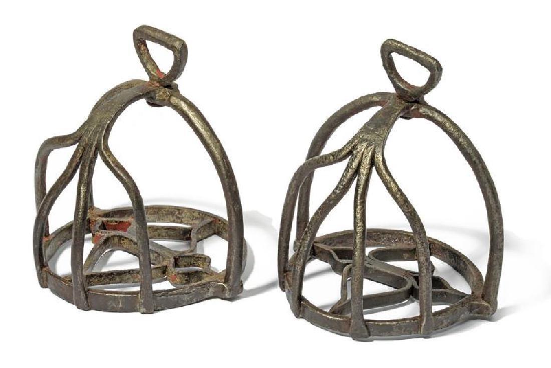 A rare pair of stirrups