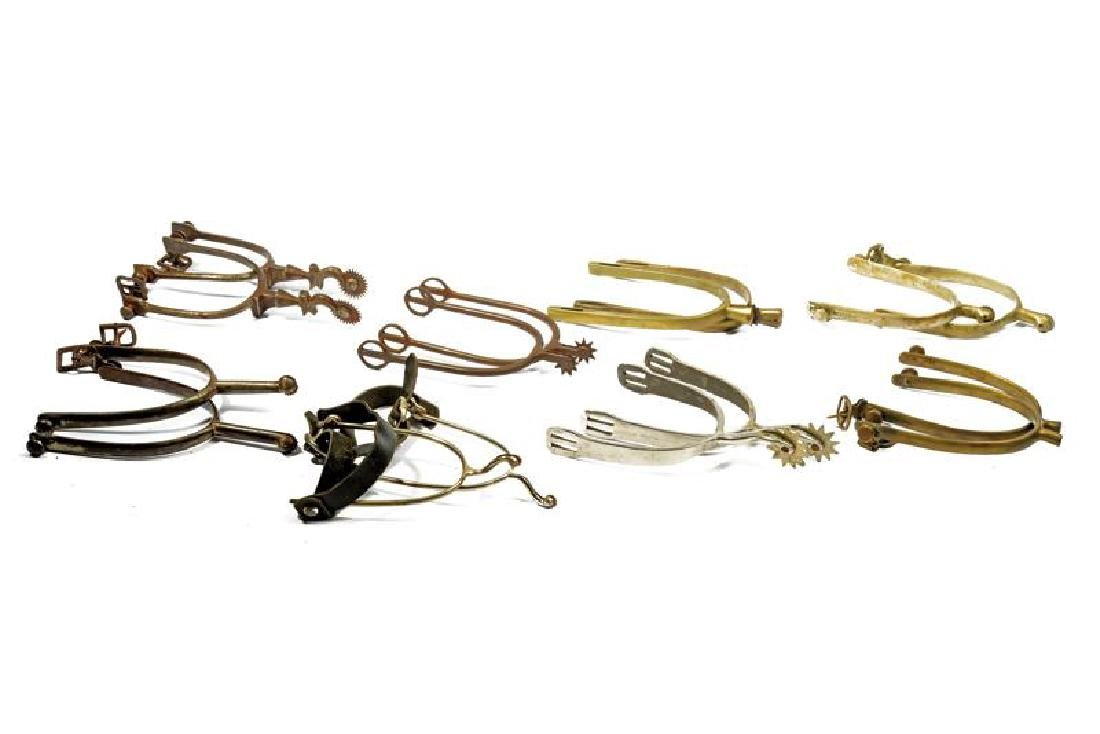 A lot of eight pairs of spurs