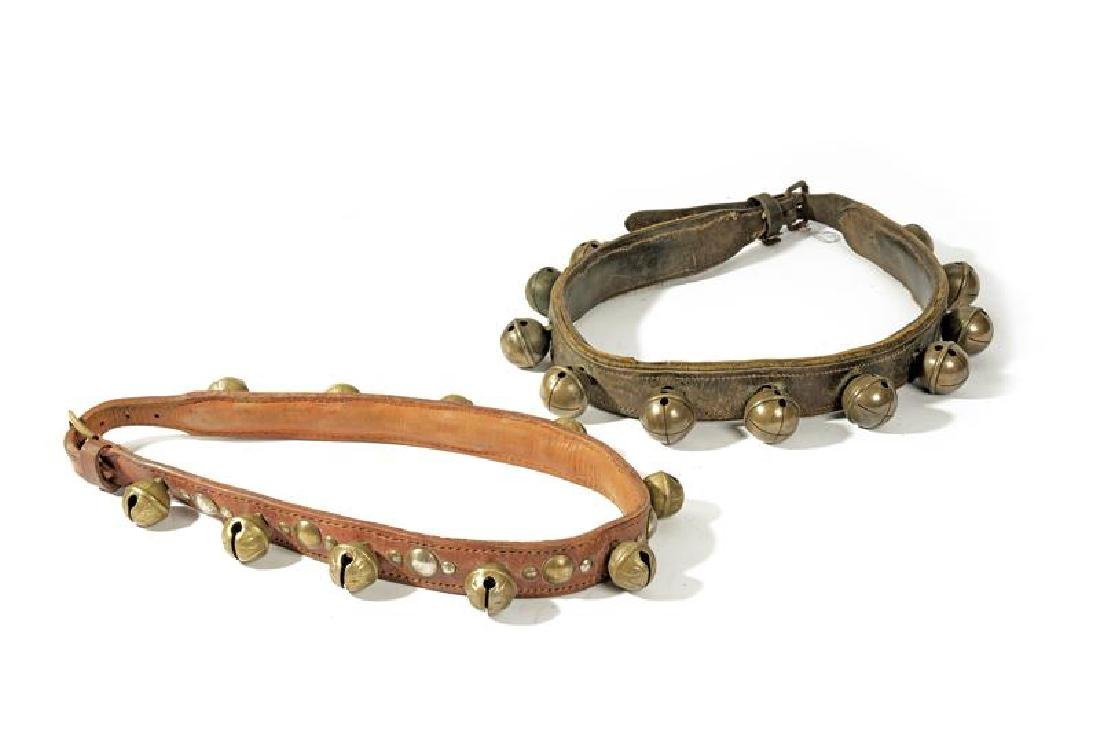 A lot of two bell-collars
