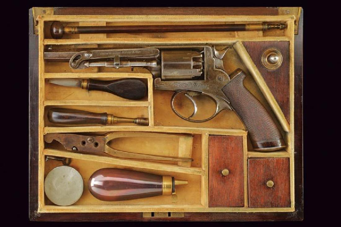 A cased Adams percussion revolver