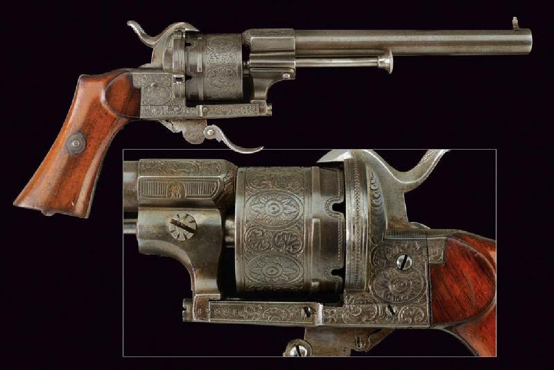 A Lefaucheux pin fire revolver
