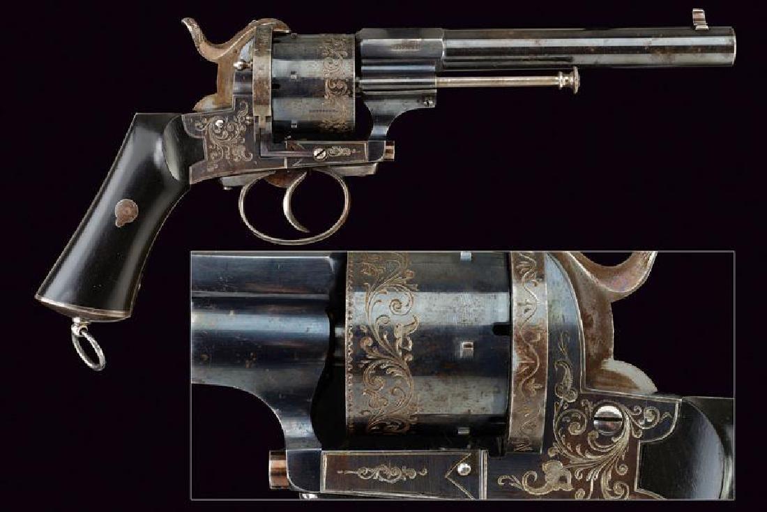 A rare pin fire revolver by Terrasse