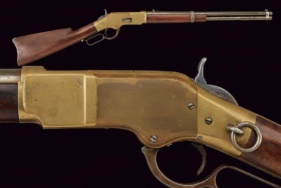 A 1866 model Winchester rifle